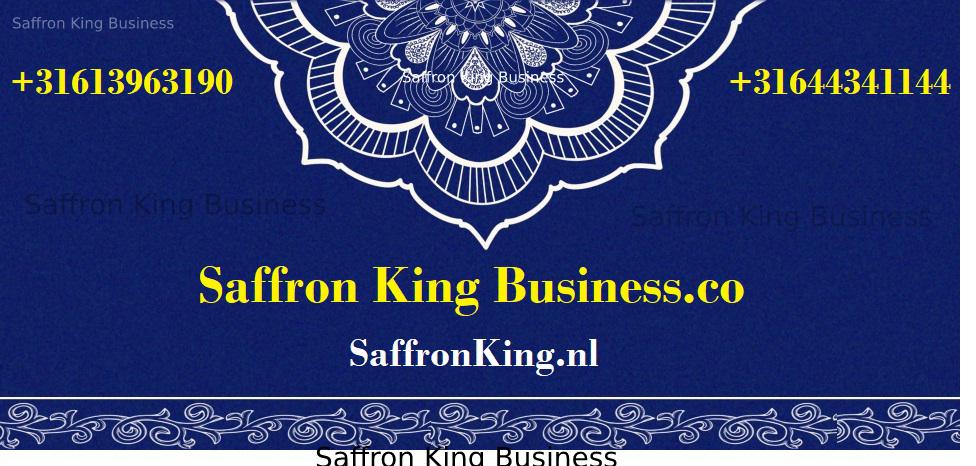 Selling saffron in Saffron king business
