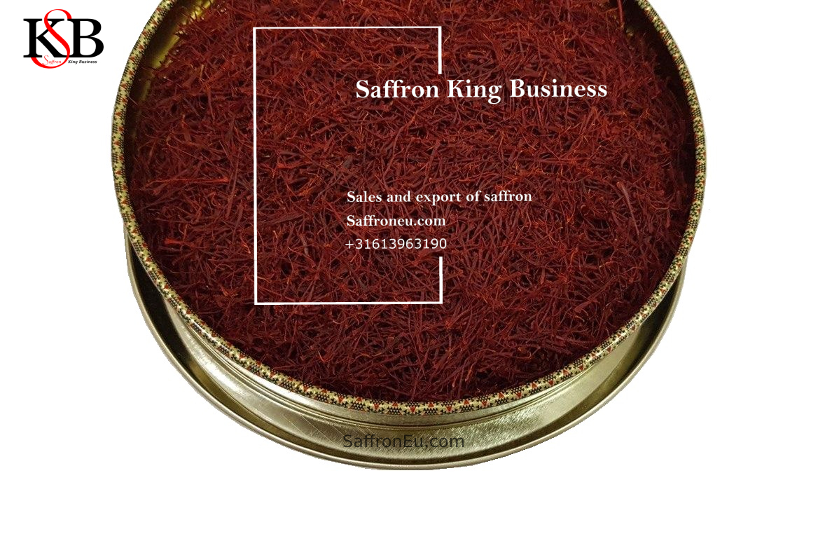 Groothandelsverkoop van saffraan in München, Duitsland