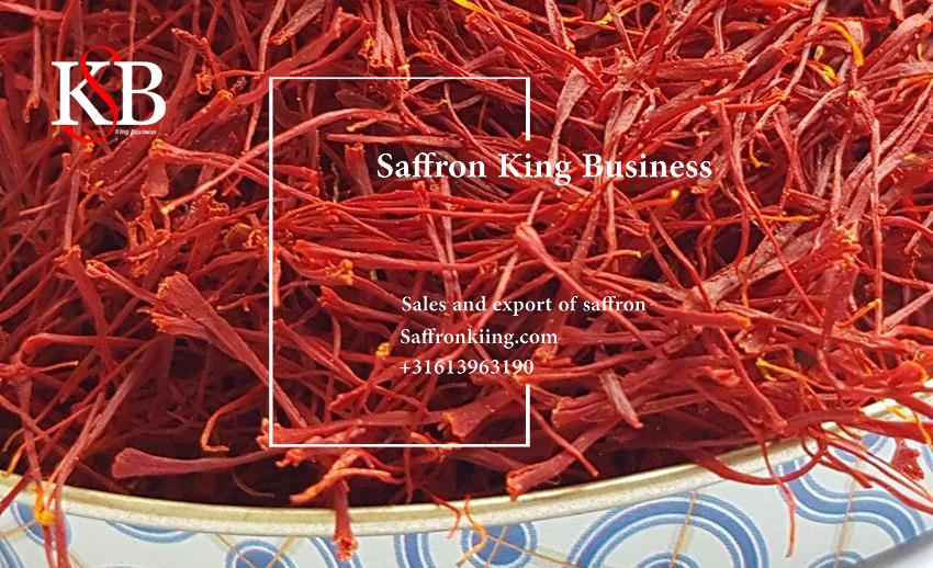 Verkoper van saffraan op de Duitse markt