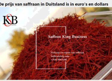 De prijs van saffraan in Duitsland is in euro's en dollars