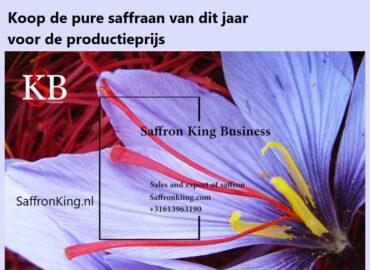 Koop de pure saffraan van dit jaar voor de productieprijs