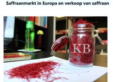 Saffraanmarkt in Europa en verkoop van saffraan