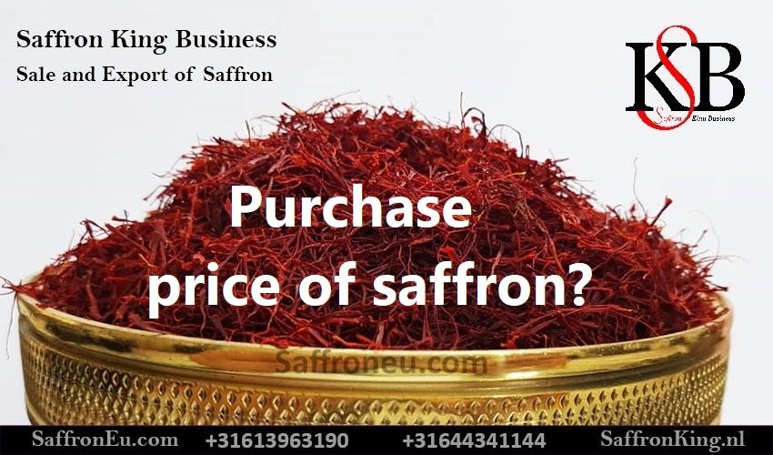 Purchase price of saffron?