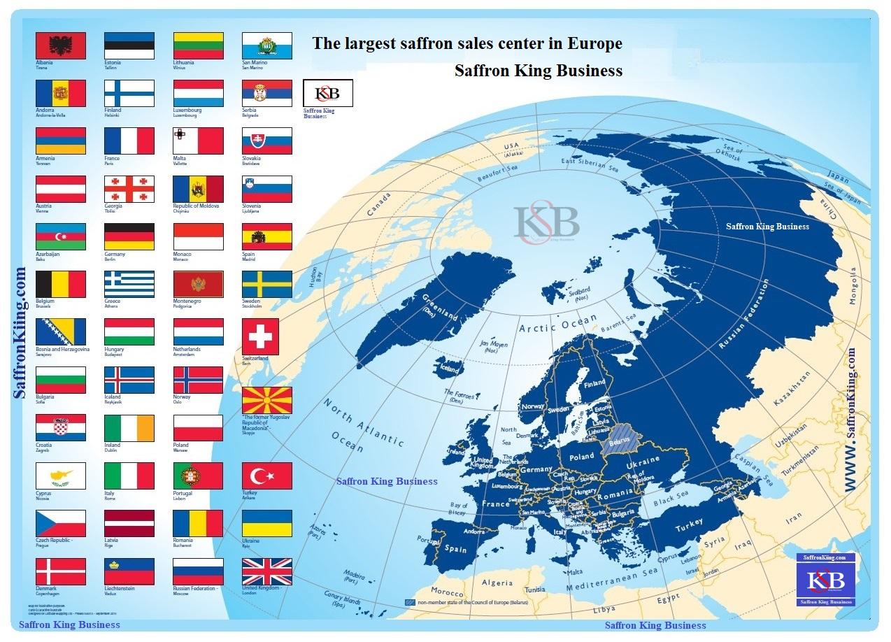 Koop saffraan voor export in Europa