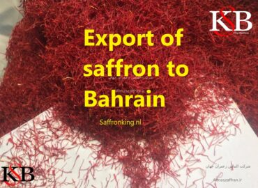 Export of saffron to Bahrain