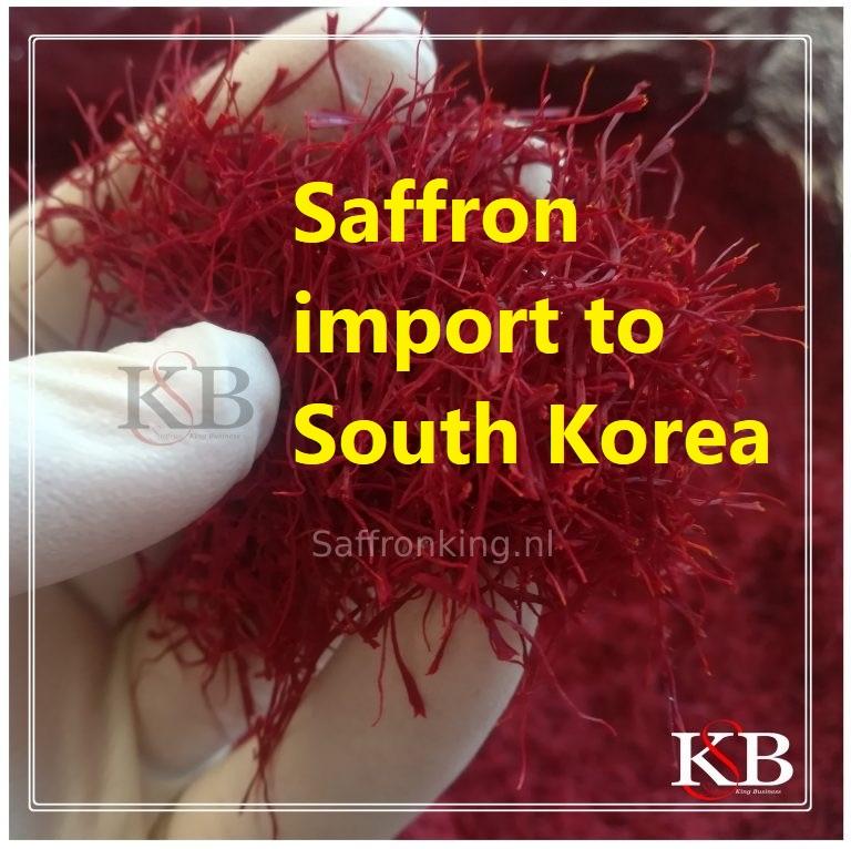 Saffron import to South Korea
