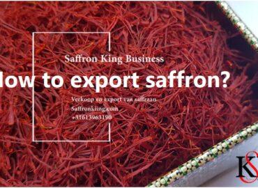 How to export saffron?