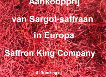Aankoopprijs van Sargol-saffraan in Europa