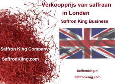 Verkoopprijs van saffraan in Londen
