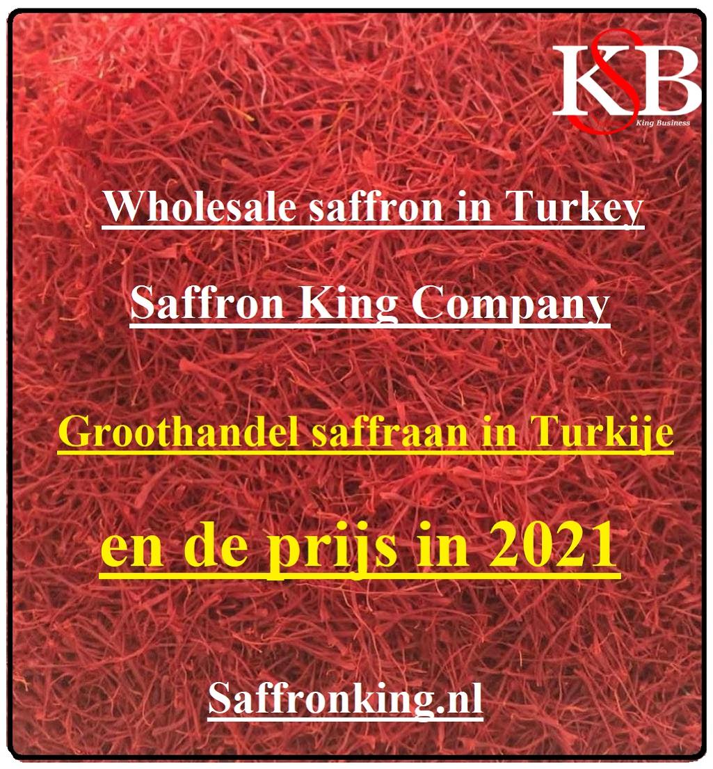 Groothandel saffraan in Turkije en de prijs in 2021