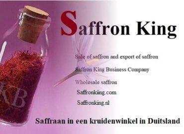 Saffraan in een kruidenwinkel in Duitsland en saffraan van hoge kwaliteit