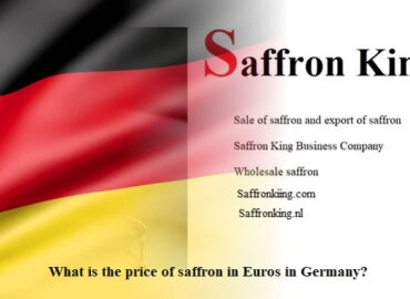 What is the price of saffron in Euros in Germany?